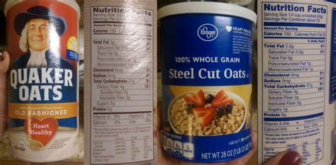 whole grain quaker oats nutrition facts nutrition facts of mice and makeup