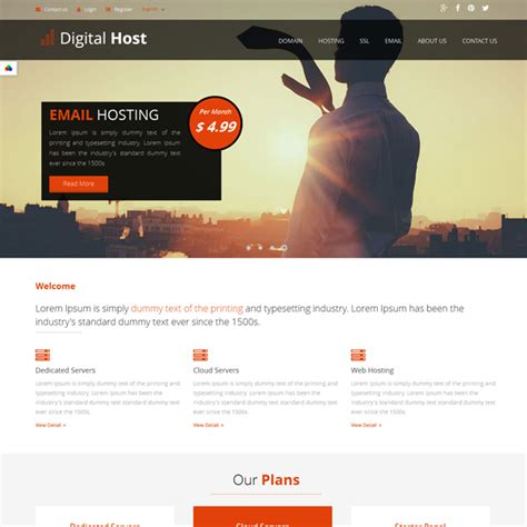 html5 newsletter template digital host html5 template web hosting html template