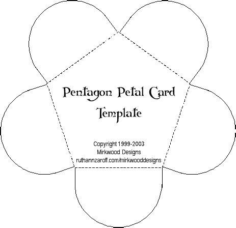 petal placement template free pentagon petal card template design idea create a
