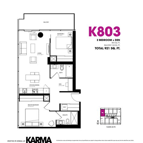 1 floor plan karma condos karma condo 2 1 bedroom floor plans