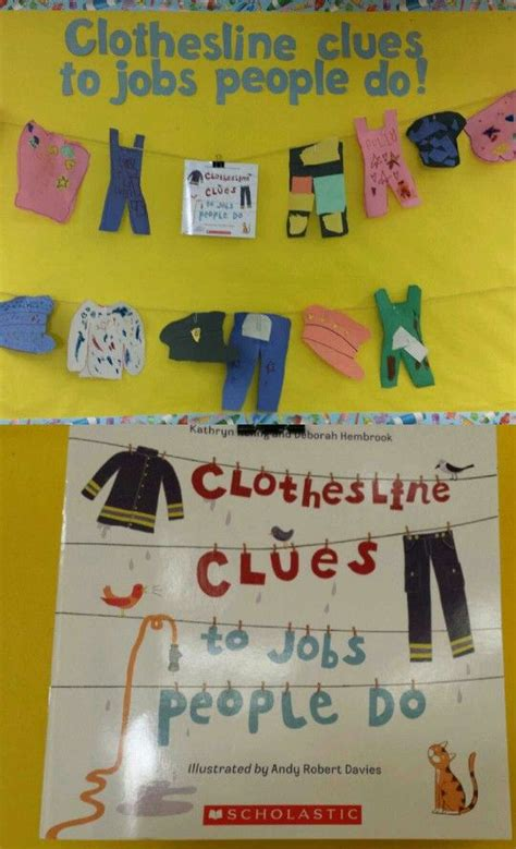 themes of clothing lines community helpers bulletin board our kindergarten