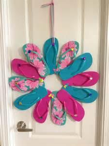 my flip flop wreath summertime