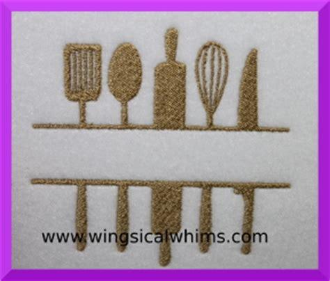 free kitchen embroidery designs kitchen utensils split machine embroidery design
