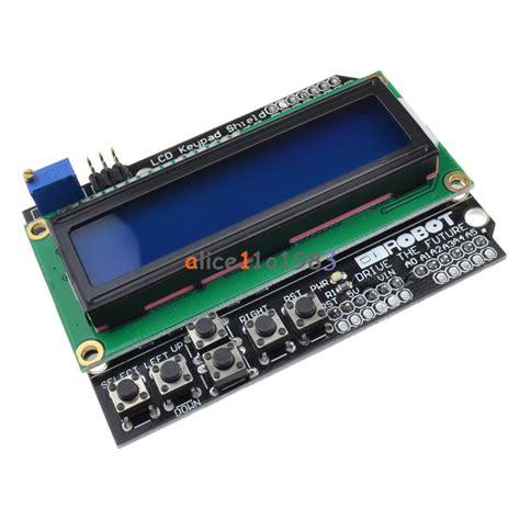 Terbaru Lcd Display 1602 Blue Green For Arduino Lcd 16x2 Kualitas 1602 lcd board keypad shield blue backlight for arduino lcd duemilanove robot 713179047454 ebay