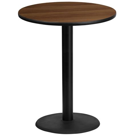 round bar top table flash furniture 36 round walnut laminate table top with
