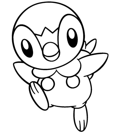 pokemon coloring pages of piplup piplup base by conythewolf on deviantart