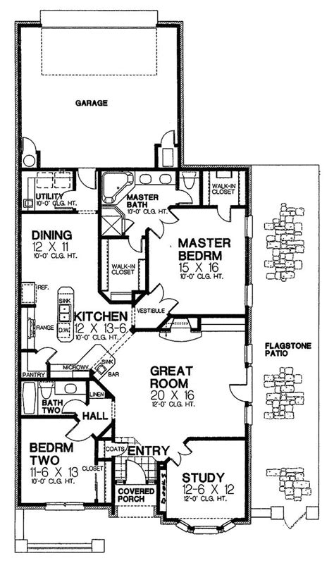 narrow house plans with garage in back plougonver