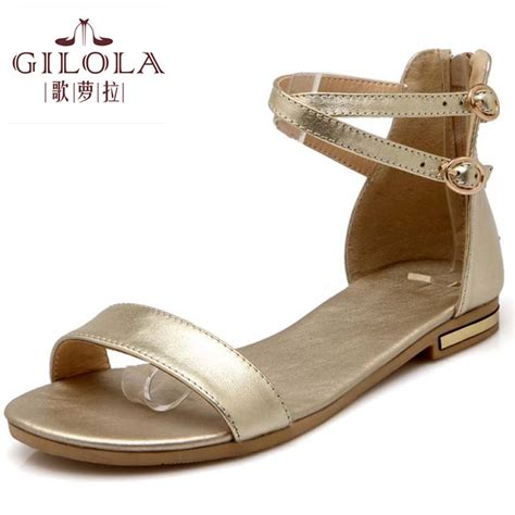 new flat s sandals leather pu sandals