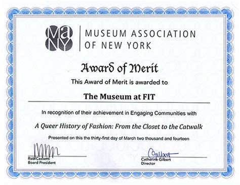 fashion design certificate nyc mfit receives many award of merit fashion institute of