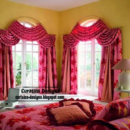 Bedroom Curtain Rods Decorating Arched Windows Curtain Designs Ideas For Bedroom