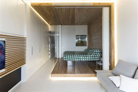 Interior Of Mobile Homes small studio apartment with functional custom closet and