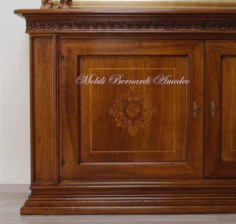 mobili bernardi amedeo credenza in legno massello di noce intarsiata ros 224