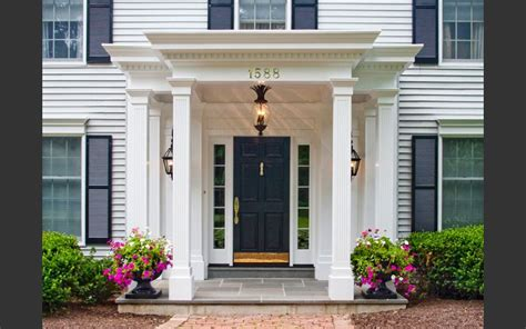 Federal Search Federal Colonial Portico Really Like House Ideas