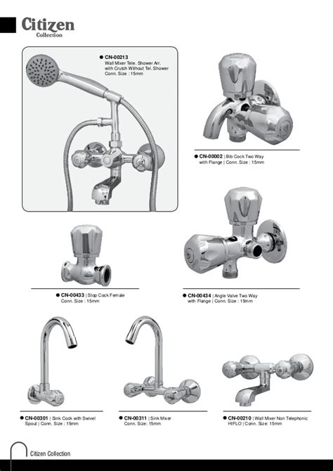 List Of Plumbing Fixtures by Agmeco Faucets Export List