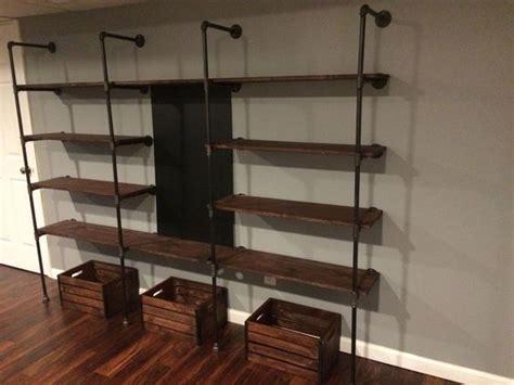 modern diy pipe shelves