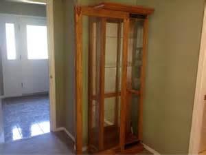 Curio Cabinet Used Oak Curio Cabinet Malahat Including Shawnigan Lake Mill