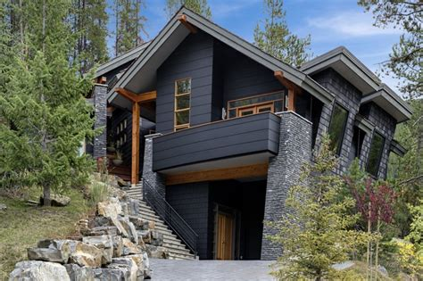 modern rustic homes with black exteriors mountain modern