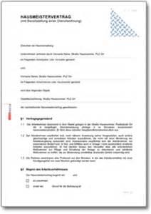 Muster Kündigung Mietvertrag Bei Tod Hausmeistervertrag Mit Werkswohnung Und Mietvertrag De Vertrag