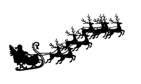 Black And White Clip Art Santa Claus   Search Results ... Free Clip Art Santa And Reindeer