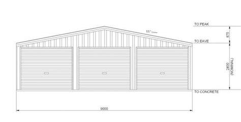 standard garage dimensions garage dimensions triple triple garage 9m x 6m
