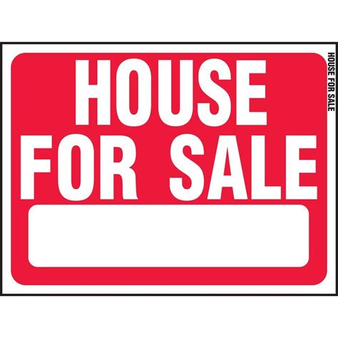 hy ko 18 in x 24 in plastic house for sale sign rs 607