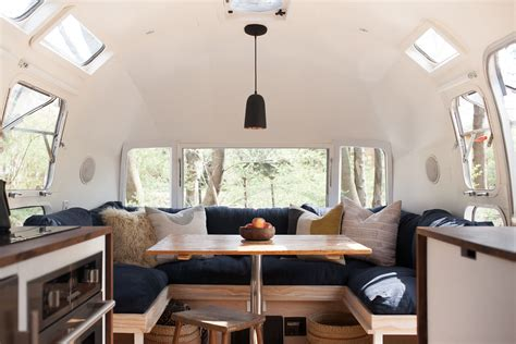 Modern Home Interior Color Schemes vintage airstream custom built for modern living on the go