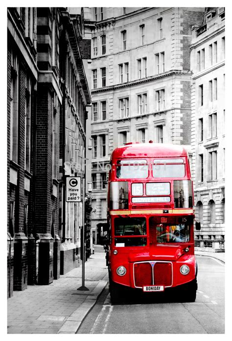 Wall Stickers London black and white painting photography frameless painting