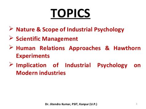 Industrial Psychology Notes Mba by Industrial Psychology