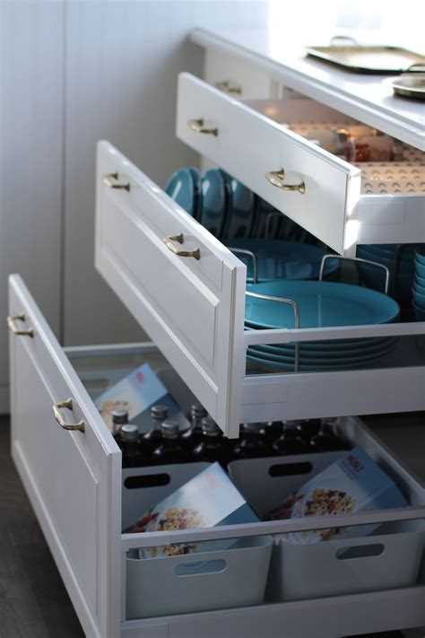 ikea kitchen cabinet organizers yes drawers vs cupboards for organization and easy to get