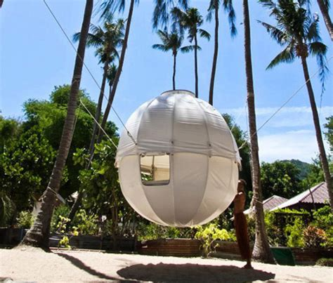 cocoon tree a lightweight spherical treehouse for