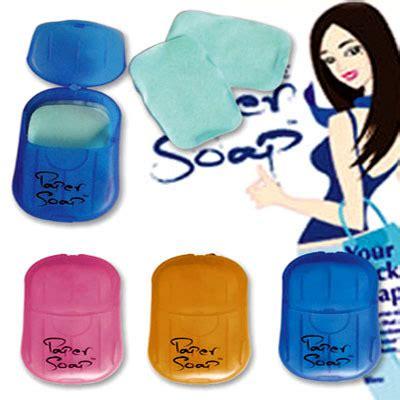 Item Sabun Kertas Praktis Travelling Paper Soap Sabun Travel jual travelling paper soap sabun cuci kertas travel pocket saku tas dompet land