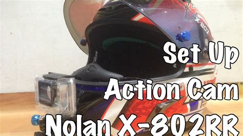 Bpro Vs Gopro set up ke helm nolan x 802rr gopro xiaomi yi bpro etc