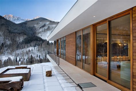 wood glass house design linear mountain house of wood glass and chalet charm