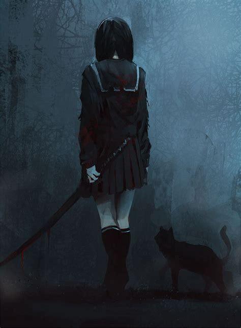 imagenes anime goticas dark imagenes goticas terror pinterest samurai girls and