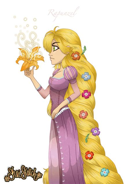 rapunzel fan art  sheisketch  deviantart