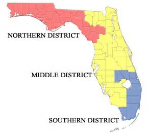 middle district of florida map court locations northern district of florida united