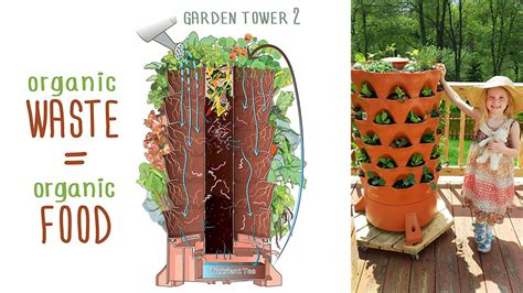 garden tower 2 50 plants vertical container garden