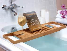 bathtub tray bamboo bathtub caddy from bamb 252 si by belmint review 187 the