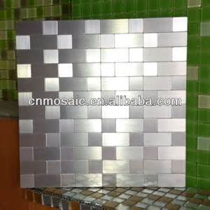 Self Stick Kitchen Backsplash Tiles self adhesive back metal tile mosaic for backsplash view
