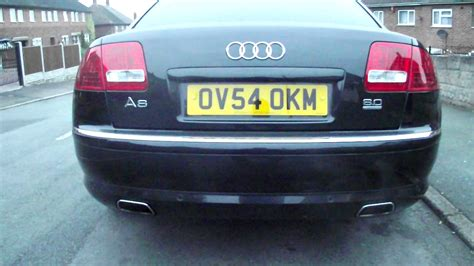 Audi A8 Auspuff by Audi A8 W12 With Uprated Exhaust