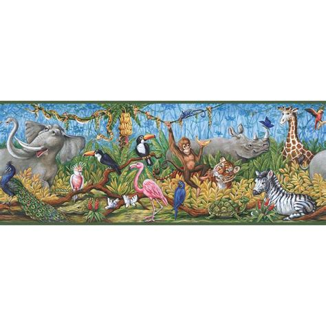 chesapeake nathaniel swinging jungle wallpaper border