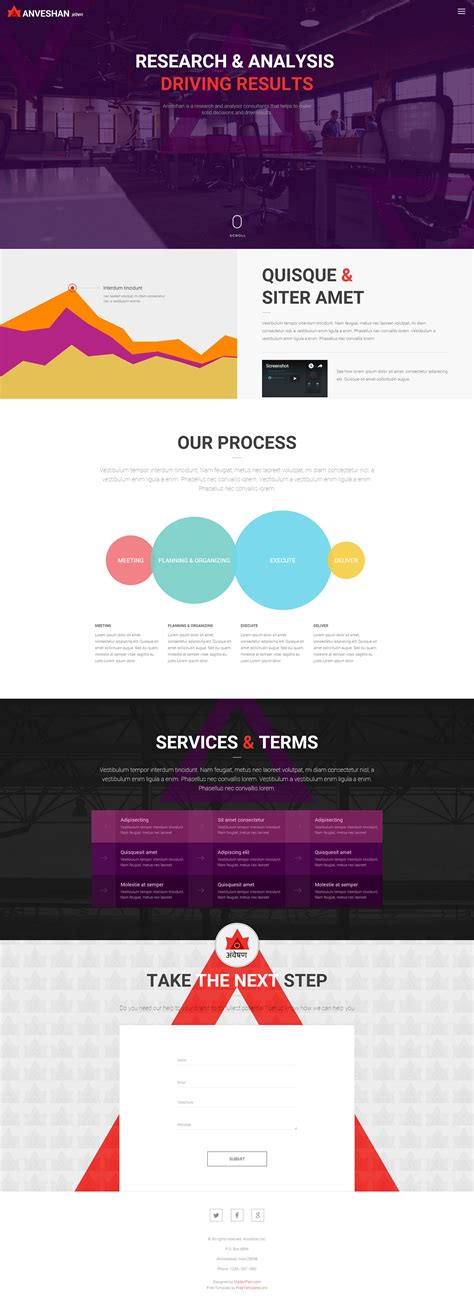 free templates for html pages anveshan free one page website html template free