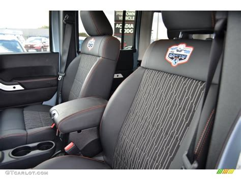 jeep arctic interior black with polar white accents orange stitching interior