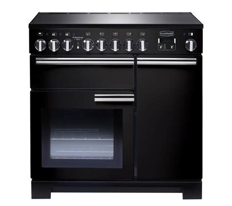 kitchen range with induction hob buy rangemaster professional deluxe 90 electric induction range cooker black chrome free