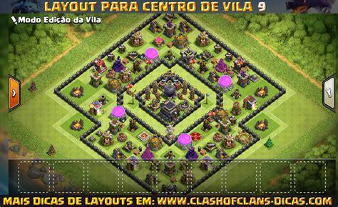 layout push cv 9 layouts de cv9 clash of clans clash of clans dicas