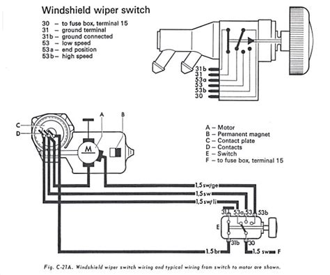 1974 vw bug wiper motor wiring diagram 42 wiring