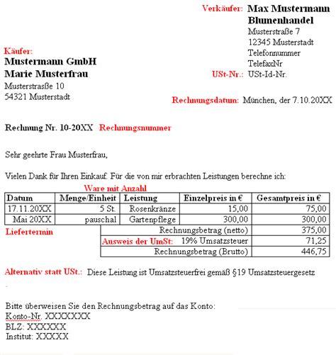 Musterrechnung 19 Ustg Hinweis Zur Rechnung Kleinunternehmer Der Satz Nach 19 Ustg Besteht Keine Umsatzsteuerpflicht