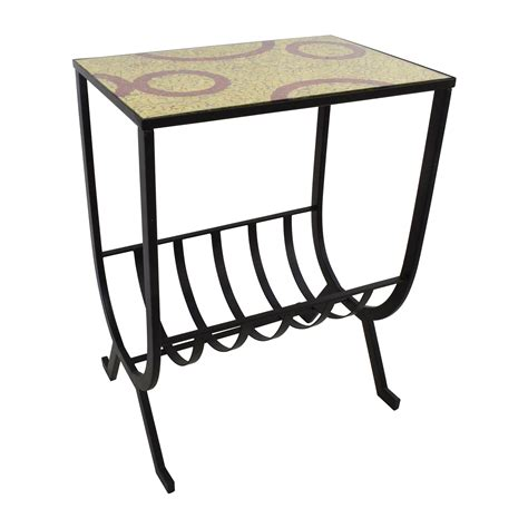 mosaic accent table 54 off pier 1 mosaic magazine accent table tables