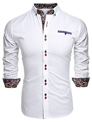 Dress Katun Polos Importdress Polos Import coofandy s fashion slim fit dress shirt casual shirt