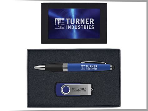 Pen Color Blue 8gb New Win8 torpedo ballpoint pen and 8gb swivel usb gift set 08043 04 zing manufacturing